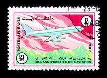 Plano de Ilyushin Il-86, 40th aniversário do serie de Ariana Airline, Imagem de Stock