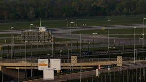 Plano de jato de AirBaltic no aeroporto de Munich, MUC