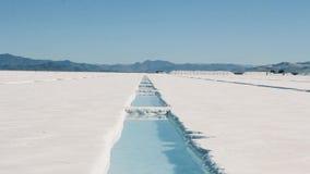 Plano de la sal de la Argentina metrajes
