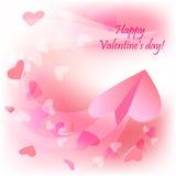 Plano de la tarjeta del día de San Valentín Foto de archivo libre de regalías