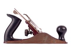Plano de madeira dos carpinteiros idosos isolado foto de stock