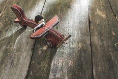Plano de madeira do vintage na placa de madeira imagens de stock