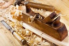Plano de madeira velho imagens de stock