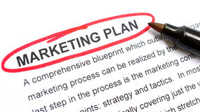 Plano de marketing fotografia de stock royalty free