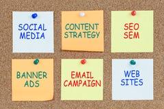 Plano de marketing de Digitas imagens de stock