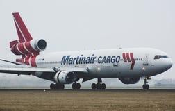 Plano de Martinair MD-11 después de aterrizar Imágenes de archivo libres de regalías