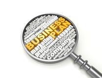 Plano de negócios das palavras cruzadas Fotografia de Stock