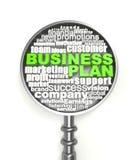 Plano de negócios das palavras cruzadas Imagem de Stock