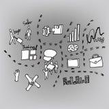Plano de negócios dos desenhos animados Imagem de Stock Royalty Free
