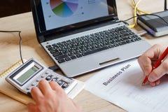 Plano de negócios pequeno Boas ideias do negócio Ideias para começar o negócio novo Imagem de Stock
