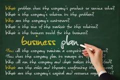 Plano de negócios Imagem de Stock Royalty Free
