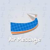 Plano de papel do ar, jogo da escola Fotos de Stock Royalty Free