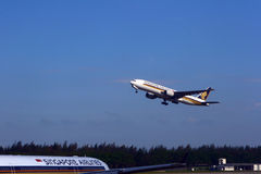 Plano de Singapore Airlines Fotografia de Stock