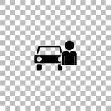 Plano del icono del conductor ilustración del vector