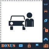 Plano del icono del conductor libre illustration