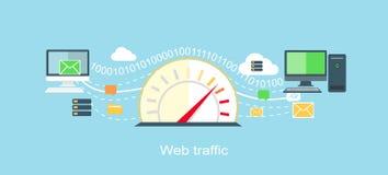 Plano del icono de Internet del tráfico del web aislado Fotos de archivo