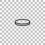 Plano del icono de la moneda libre illustration