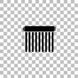Plano del icono de la persiana stock de ilustración