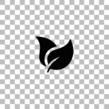 Plano del icono de las hojas libre illustration