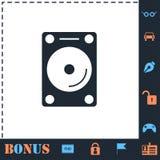 Plano del icono del disco duro stock de ilustración