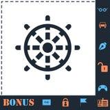 Plano del icono del tim?n stock de ilustración