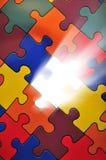 Plano del rompecabezas - desaparecidos de la una sola pieza Imagen de archivo libre de regalías