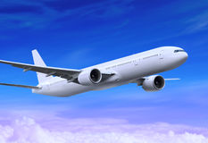 Plano del vuelo Foto de archivo libre de regalías