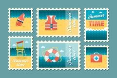 Plano determinado del sello del verano Imagen de archivo libre de regalías