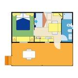 Plano do apartamento Fotografia de Stock Royalty Free