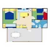 Plano do apartamento Imagens de Stock