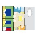Plano do apartamento Imagem de Stock