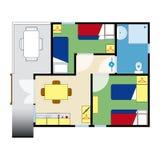 Plano do apartamento Fotografia de Stock
