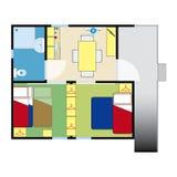 Plano do apartamento Fotos de Stock