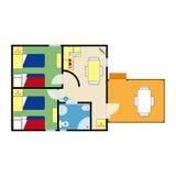 Plano do apartamento Fotos de Stock Royalty Free