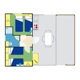 Plano do apartamento Foto de Stock