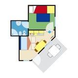 Plano do apartamento Foto de Stock Royalty Free