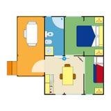 Plano do apartamento Imagem de Stock Royalty Free