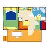 Plano do apartamento Imagens de Stock Royalty Free