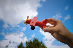 Plano do brinquedo Imagens de Stock