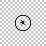Plano do ?cone do Crosshair ilustração royalty free