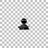 Plano do ?cone do soldado ilustração stock