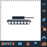 Plano do ?cone do tanque ilustração royalty free