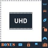 Plano do ?cone do TV Ultra HD ilustração stock