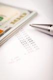 Plano do dólar e do empréstimo Imagem de Stock