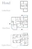 Plano do desenho do hotel Imagens de Stock
