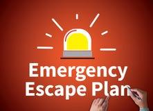 Plano do escape da emergência fotografia de stock