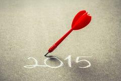 Plano 2015 do objetivo Imagens de Stock Royalty Free
