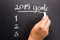 Plano 2015 do objetivo Imagens de Stock