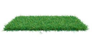 Plano do retângulo coberto com a grama verde fotografia de stock