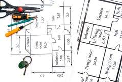 Plano dos apartamentos Imagens de Stock